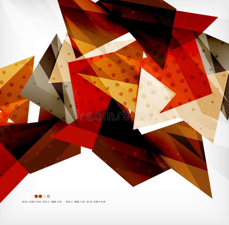 Futuristischer Formvektor-Zusammenfassungshintergrund stock abbildung