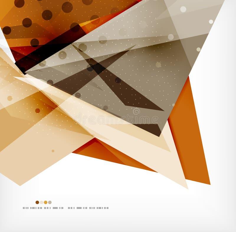 Futuristischer Formvektor-Zusammenfassungshintergrund lizenzfreie abbildung
