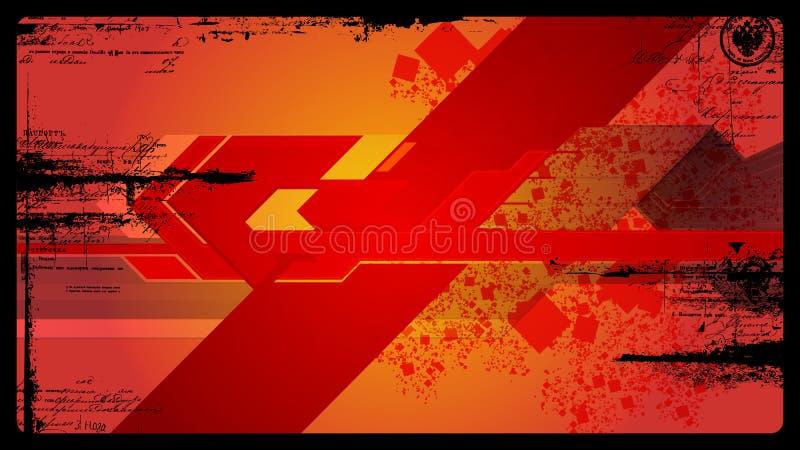 Futuristischer grunge vektorhintergrund stock abbildung