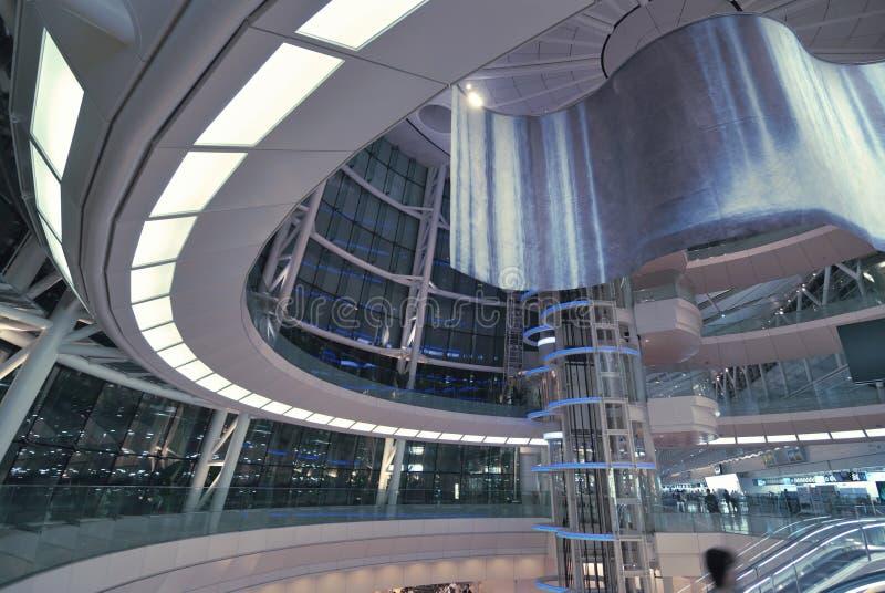 Futuristischer Halleninnenraum lizenzfreies stockfoto