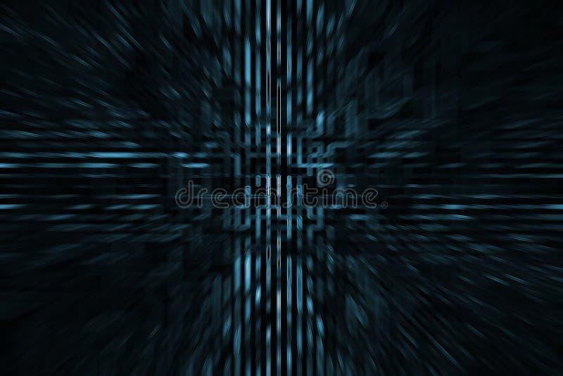 Futuristischer HIGHTECH- Hintergrund lizenzfreie abbildung