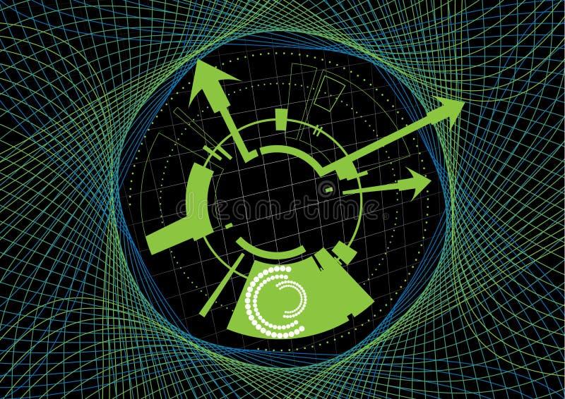 Futuristischer Hintergrund stock abbildung
