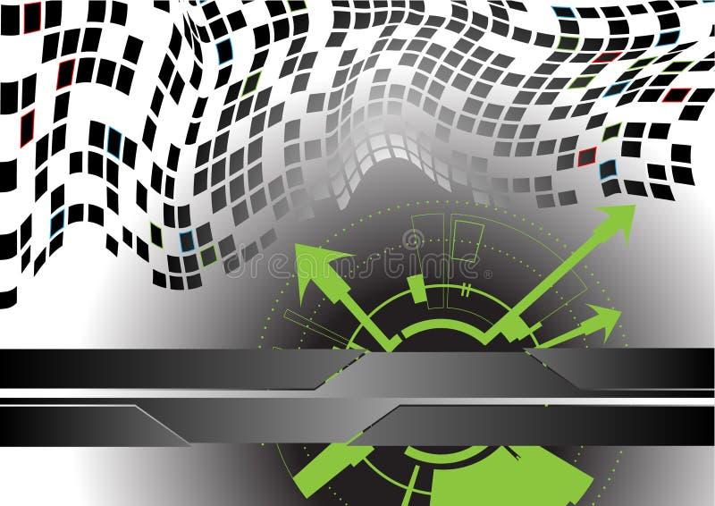 Futuristischer Hintergrund lizenzfreie abbildung