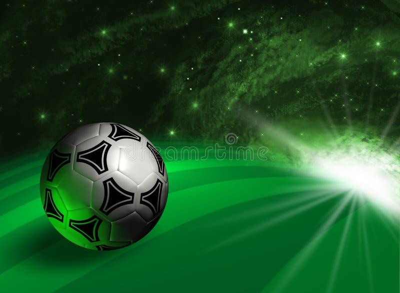 Futuristischer Hintergrund mit Fußballkugel lizenzfreie abbildung