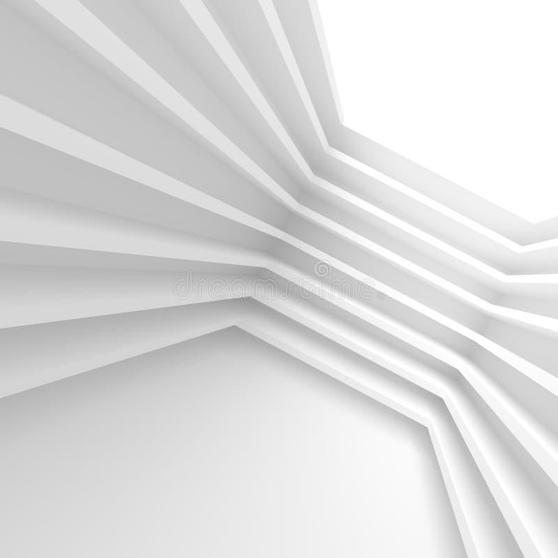 Futuristischer Innenhintergrund Weißes abstraktes Wohnzimmer Conce lizenzfreie abbildung