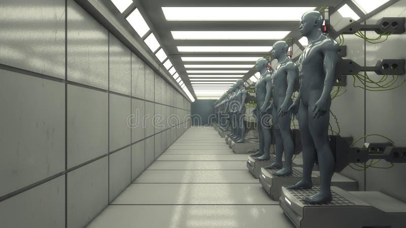 Futuristischer Innenkorridor lizenzfreie abbildung