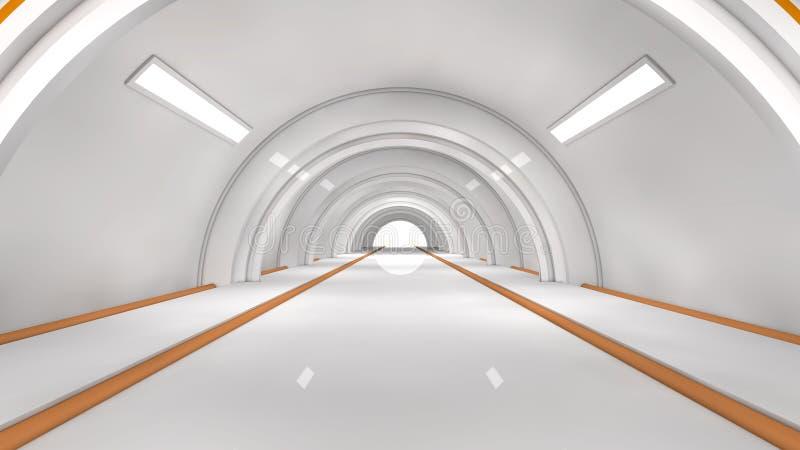 Futuristischer Innenraum lizenzfreie abbildung
