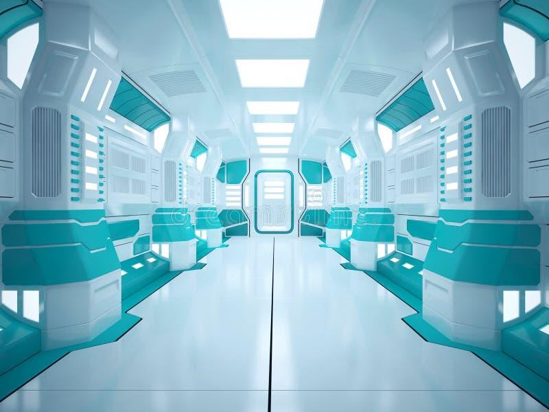 Futuristischer Korridor Sci FI lizenzfreie stockfotografie