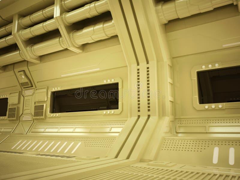 Futuristischer Korridor Sci FI stockbilder