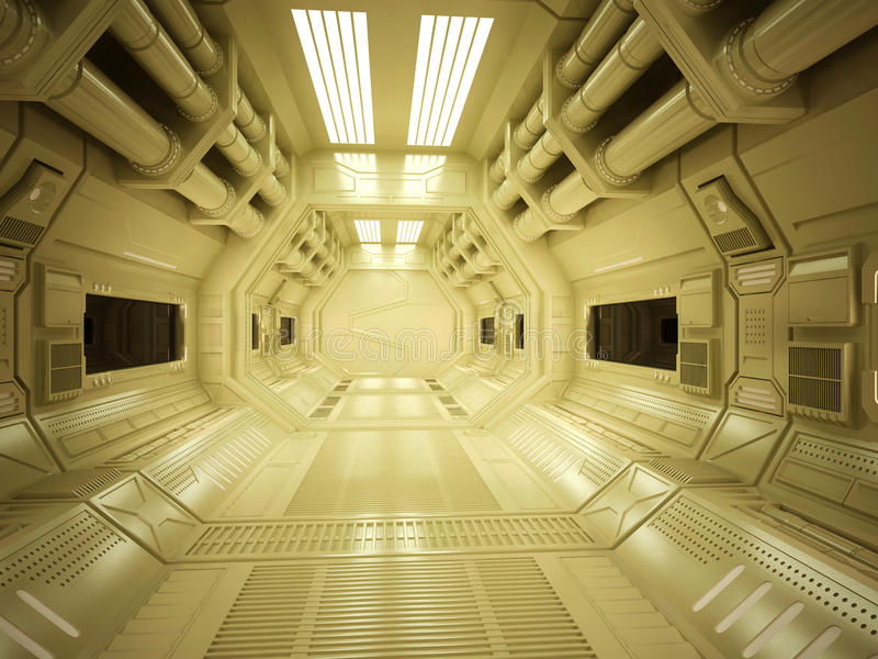 Futuristischer Korridor Sci FI stockbild