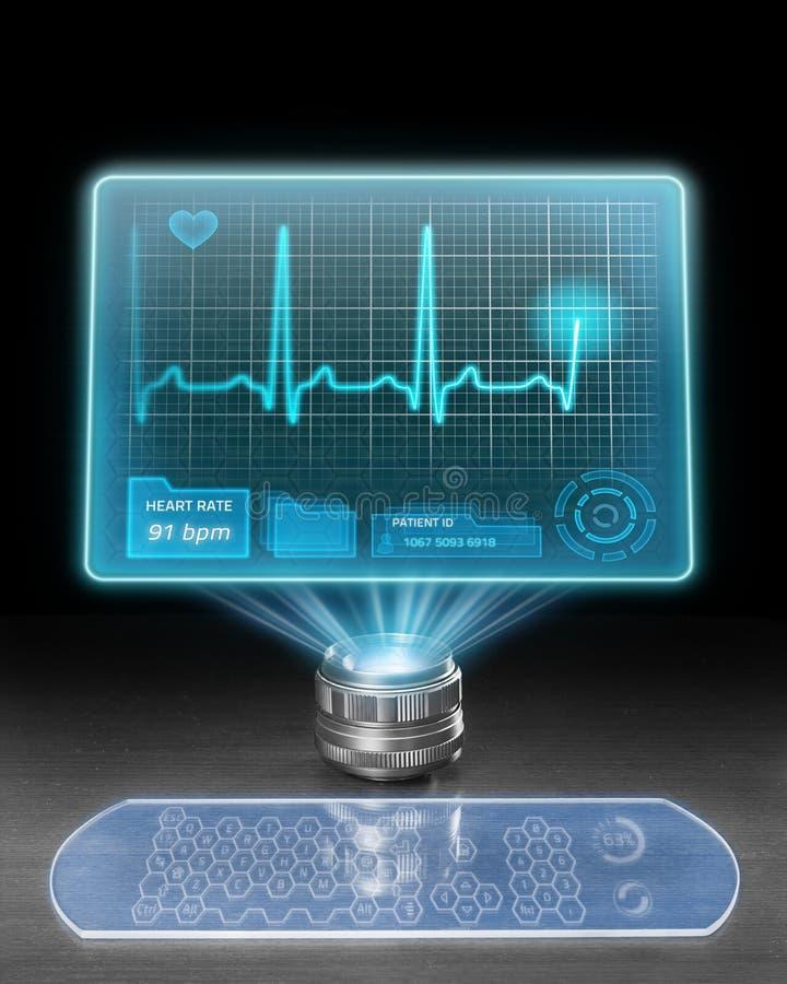 Futuristischer medizinischer Computer stock abbildung