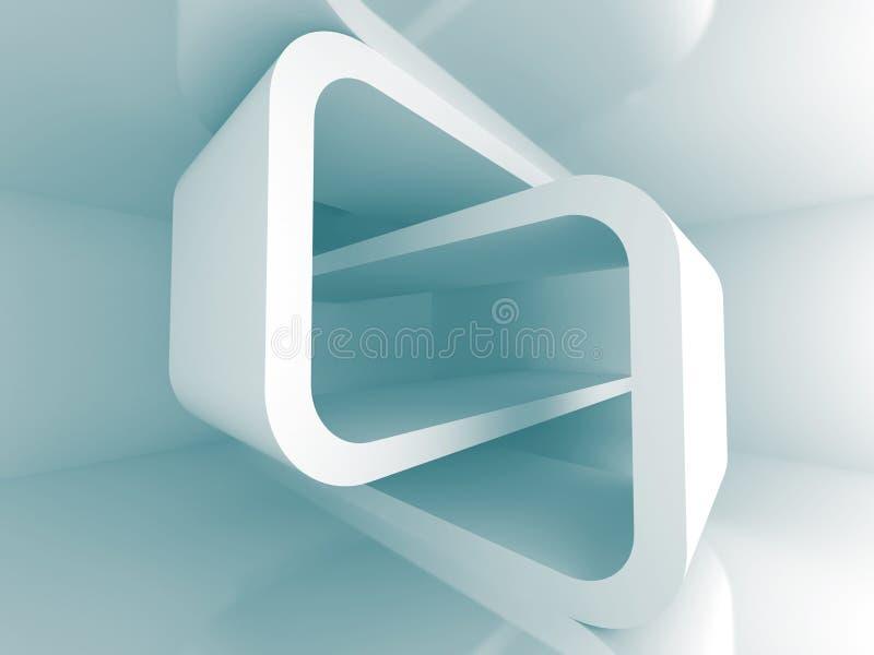 Futuristischer moderner abstrakter Architektur-Design-Hintergrund lizenzfreie abbildung