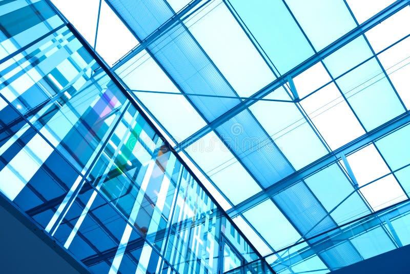 Futuristischer moderner Gebäudeinnenraum stockfoto