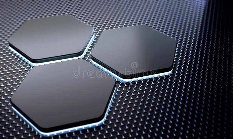 Futuristischer Metallzusammenfassungshintergrund Stock ...
