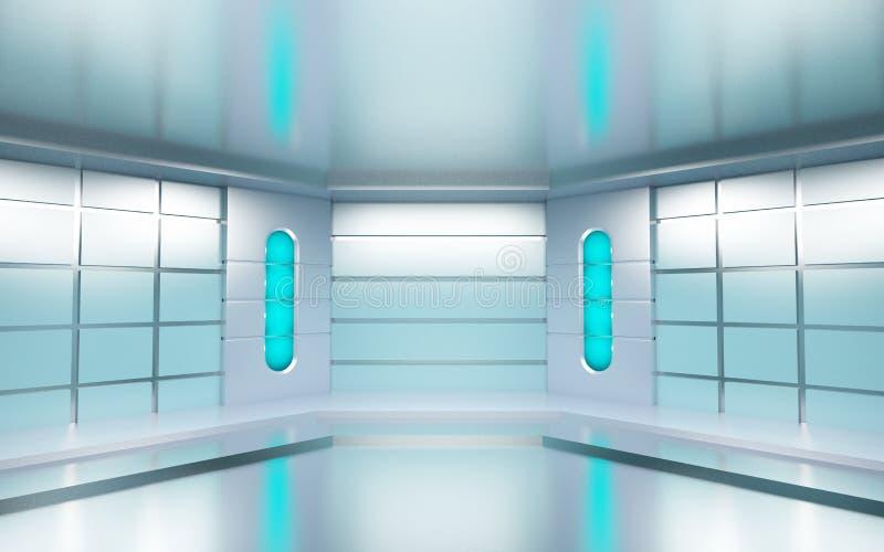 Futuristischer Raum lizenzfreie abbildung