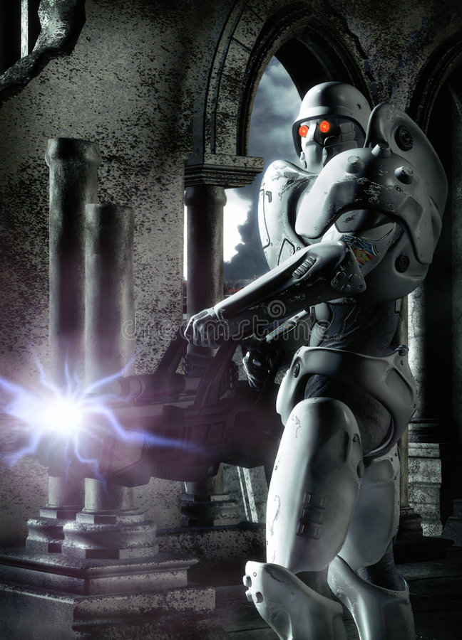 Futuristischer Soldat vektor abbildung