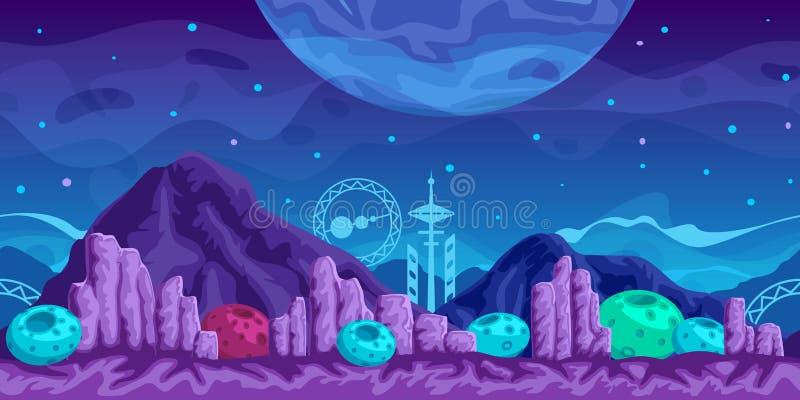 Futuristischer Spiel-Hintergrund stock abbildung
