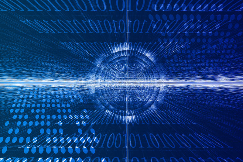 Futuristischer Technologie-Auszug stock abbildung