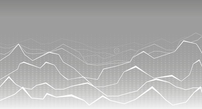 Futuristischer weißer und grauer Hintergrund stockbilder