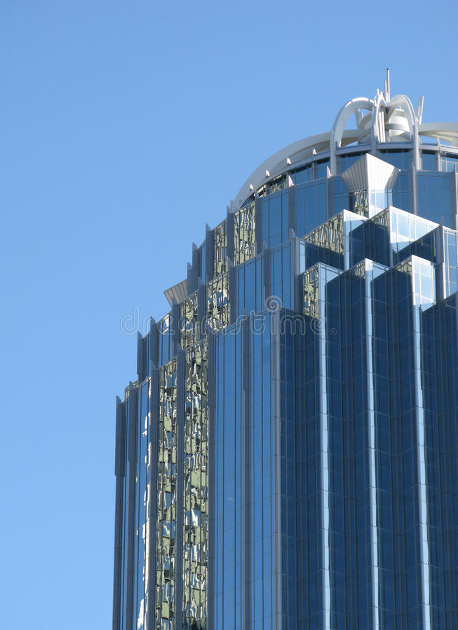 Futuristischer Wolkenkratzer stockbilder