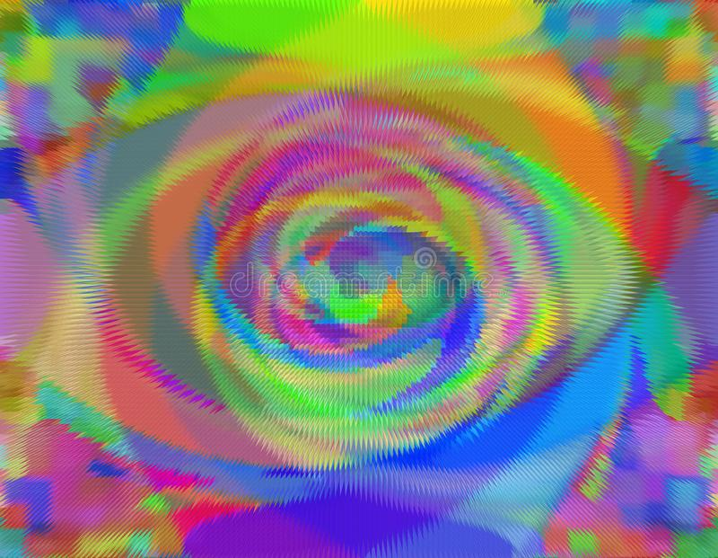 Futuristisches abstraktes buntes Auge lizenzfreie abbildung