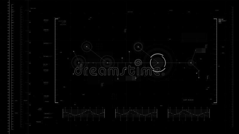 Futuristisches Benutzeroberflächendesign-Element Video-Overlay 011 stock abbildung
