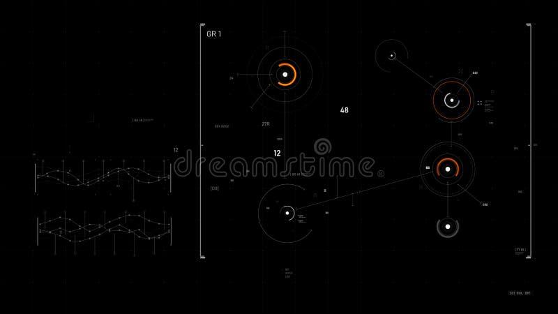 Futuristisches Benutzeroberflächendesign-Element Video-Overlay 013 vektor abbildung