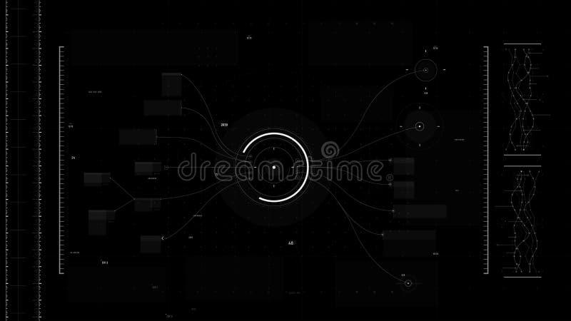 Futuristisches Benutzeroberflächendesign-Element Video-Overlay 015 vektor abbildung