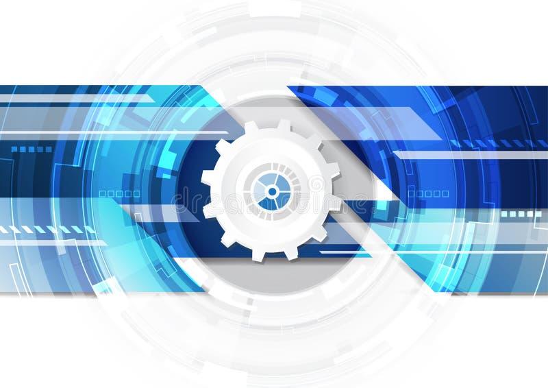 Futuristisches digitales der Technologie, Technologiegrafikdesign, Technologie infographic, abstrakter Hintergrund, Vektor stock abbildung