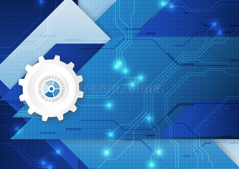 Futuristisches digitales der Technologie TechnologieLeiterplatte Technologie Infographic entziehen Sie Hintergrund Vektor stock abbildung