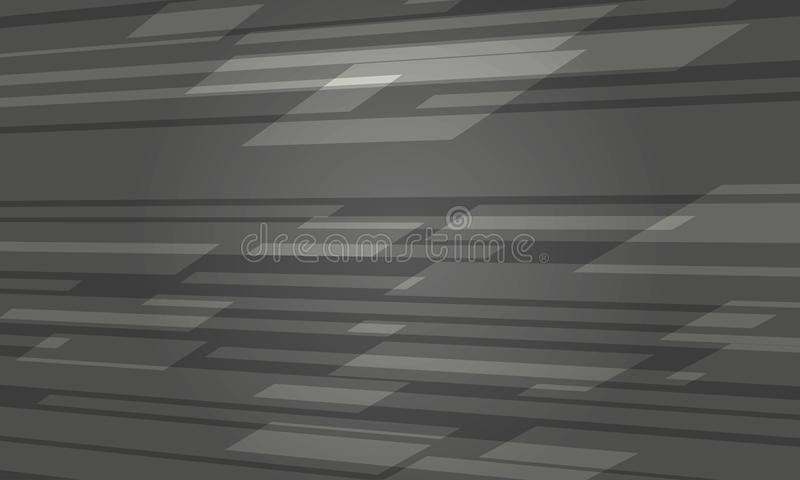 Futuristisches dunkles Grey Abstract Background vektor abbildung