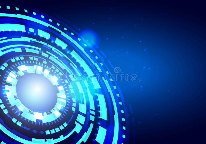 Futuristisches Element Hud Futuristische HUD Virtual Interface Elements Sciencefictions-moderner Benutzer Kreis-Zusammenfassungs- stock abbildung
