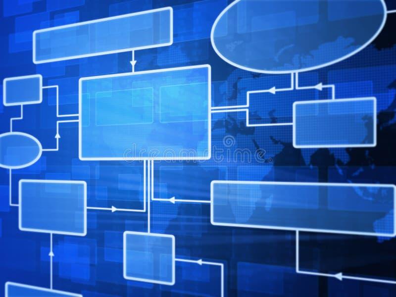 Futuristisches Flussdiagramm lizenzfreie abbildung