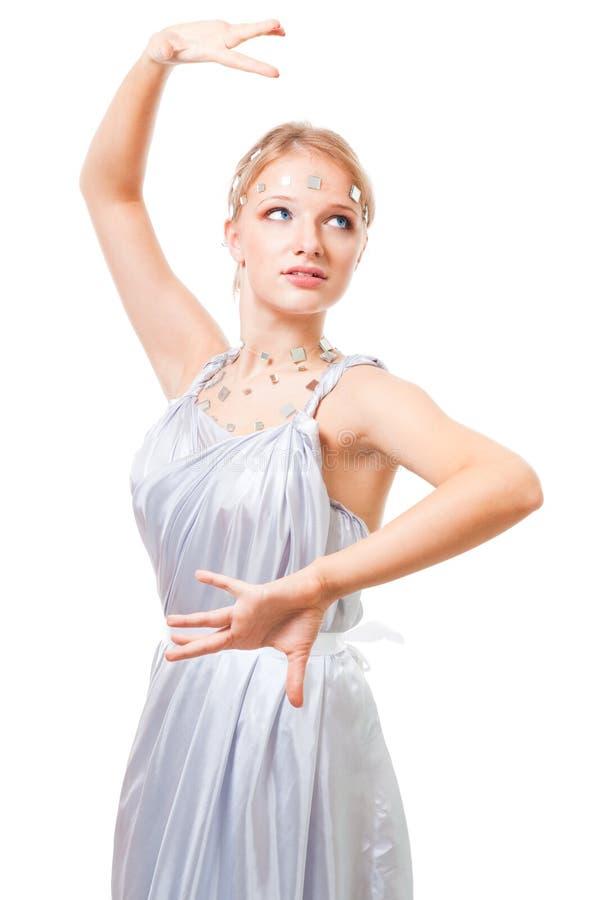Download Futuristisches Frauentanzen Stockfoto - Bild von wellness, sensuality: 12202602