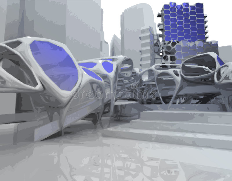 Futuristisches Gebäude vektor abbildung