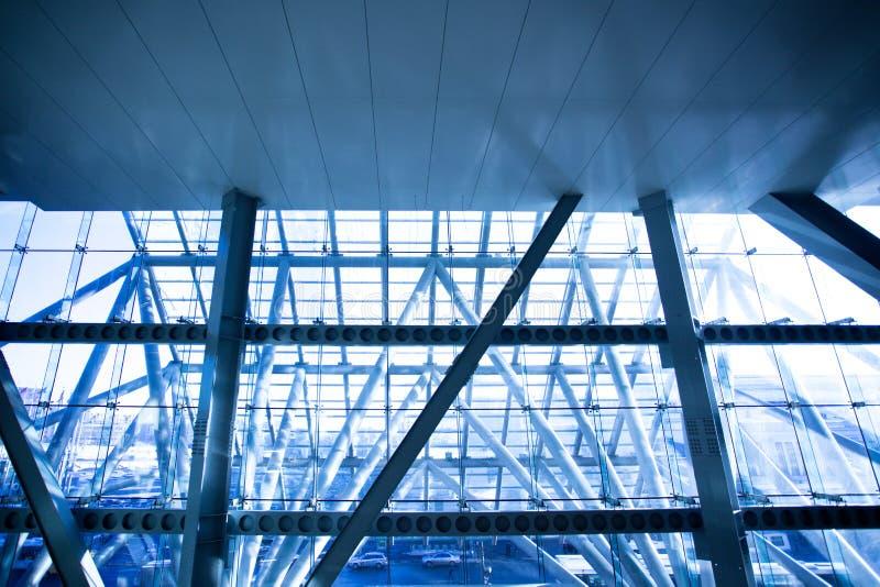 Futuristisches Geschäftszentrumfenster stockfotografie