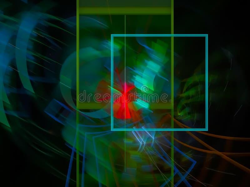Futuristisches kreatives Digital-Zusammenfassung Fractal, schöner Entwurf der Hintergrundtapeten-Grafik, Fantasie, festlich stock abbildung