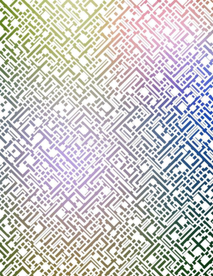 Futuristisches Labyrinth stock abbildung