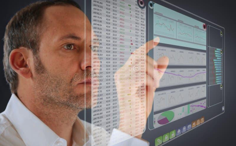 Futuristisches LCD-Panel lizenzfreie stockfotos