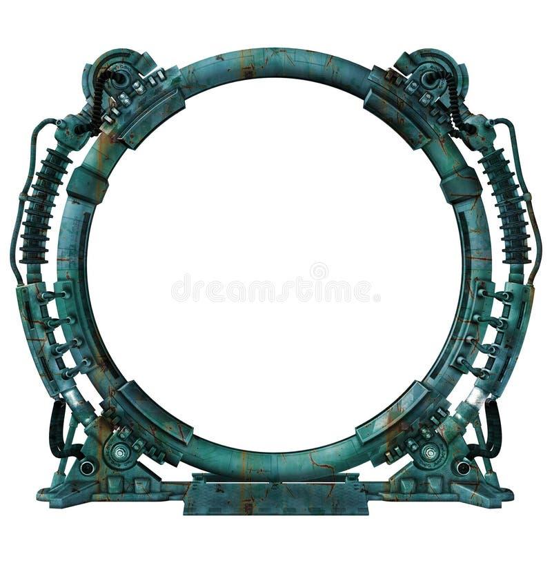 Futuristisches Portal stockbilder