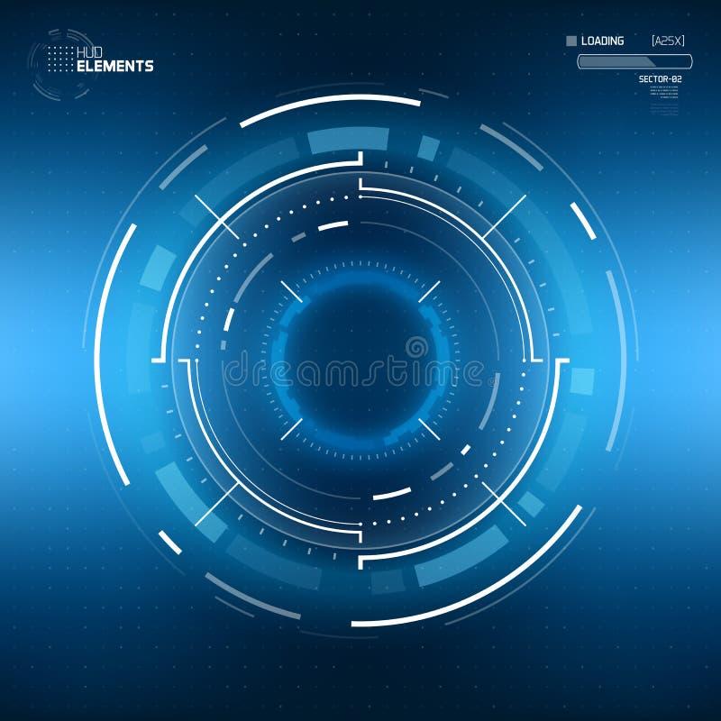 Futuristisches Sciencefictions-Rundschreiben HUD Element vektor abbildung