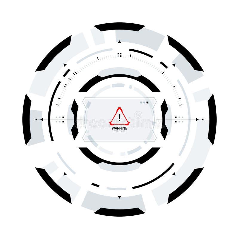 Futuristisches Sciencefictions-Rundschreiben HUD Element stock abbildung