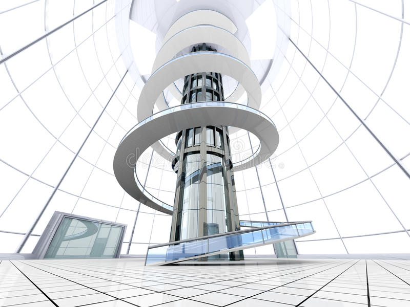 Futuristisk Arkitektur Royaltyfri Bild
