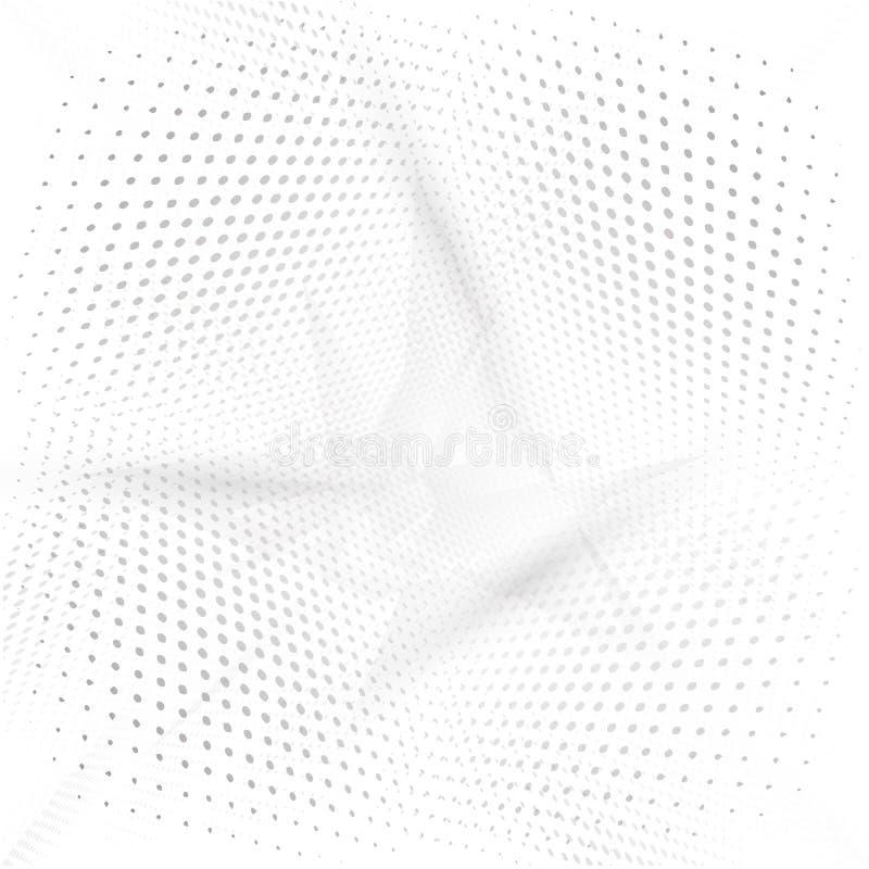 Futuristisk bakgrund för abstrakt grått perspektiv vektor illustrationer