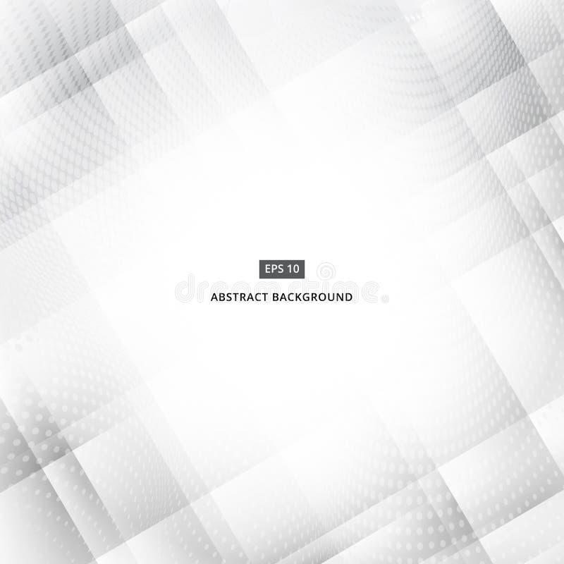Futuristisk bakgrund för abstrakt modern vit geometrisk teknologi stock illustrationer