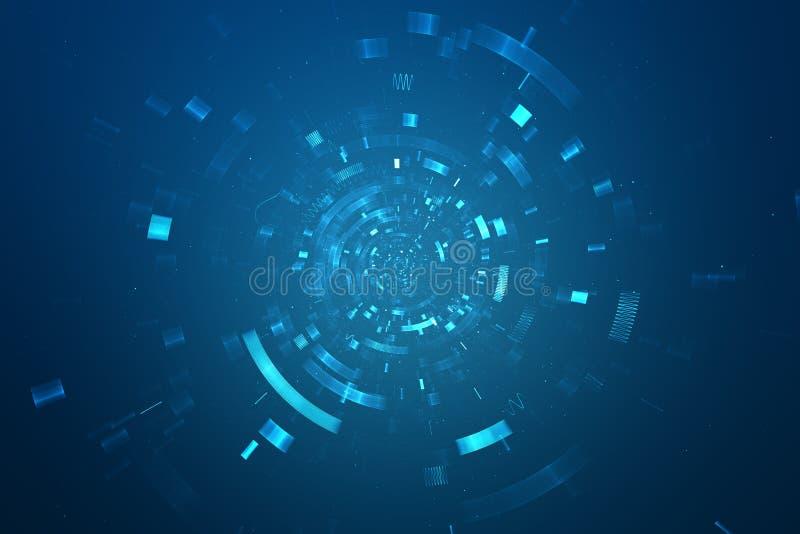 Futuristisk bakgrund för abstrakt science vektor illustrationer
