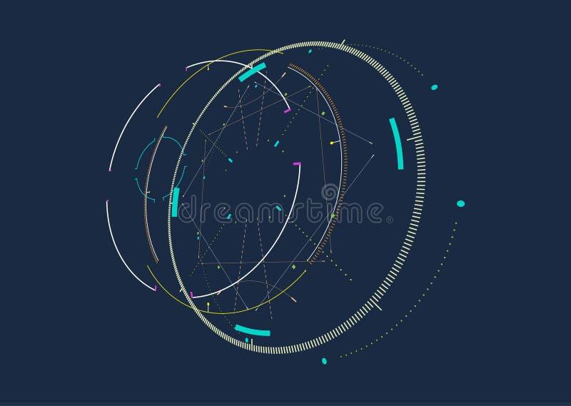 Futuristisk bakgrund för abstrakt techno vektor illustrationer