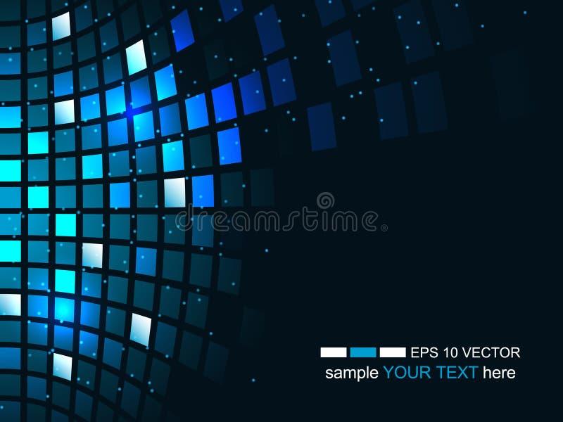 Futuristisk bakgrund för abstrakt teknologi, affär och utvecklingsriktning vektor illustrationer