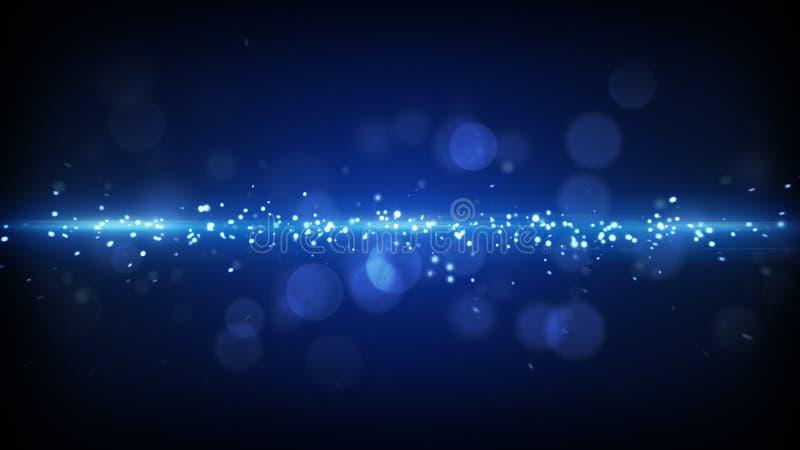 Futuristisk bakgrund för blått ljust band royaltyfri illustrationer