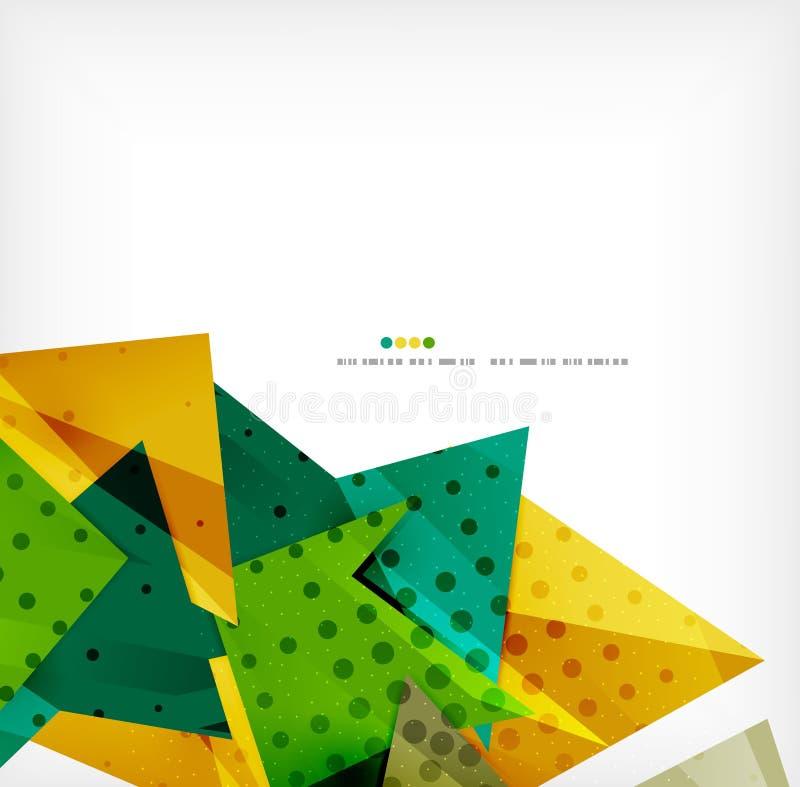 Futuristisk bakgrund för geometriskt formabstrakt begrepp stock illustrationer